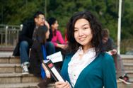 Stock Photo of study abroad asian student