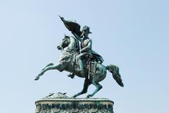 Monument to erzherzog karl (archduke charles) in vienna Stock Photos