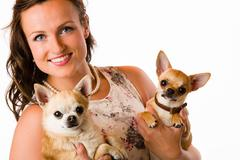Stock Photo of woman and chihuahua