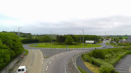 Stock Video Footage of Road Traffic Time lapse Roundabout