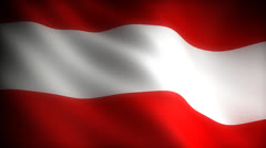 Flag of Austria Stock Footage