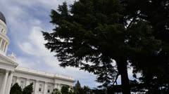 California State Capitol Building in Sacramento Stock Footage