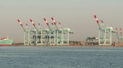 Port Newark-Elizabeth Marine Terminal Timelapse 1 Stock Footage