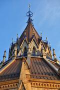 Stock Photo of parliament hill library ottawa