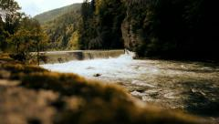 natural waterfall riverside beautiful nature - stock footage