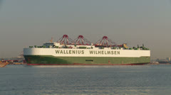 Wallenius Wilhelmsen Car/Truck Carrier Ship 2 Stock Footage