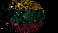 Lithuania flag sphere combining and breaking apart animation Stock Footage