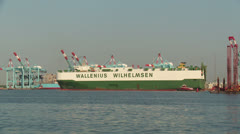 Wallenius Wilhelmsen Car/Truck Carrier Ship 3 Stock Footage