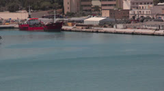 Maltese impressions - docked ship Stock Footage