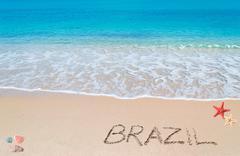 Brazil writing Stock Photos