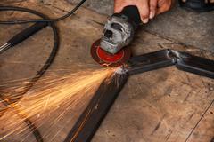 Grinding steel Stock Photos