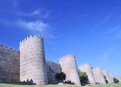 walls Avila. - stock photo