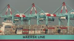 Port Newark-Elizabeth Marine Terminal Timelapse 2 Stock Footage