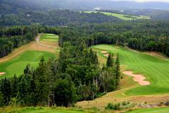 Scenic view of Golf Corse - stock photo