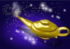 Magic lamp Stock Illustration