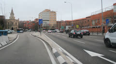 Spain - Madrid, City 14. Calle de Alcala. Driving through the streets.  Stock Footage