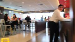 Brazilian International Airport. Guarulhos GRU, São Paulo, Brazil. Fast food 20 Stock Footage