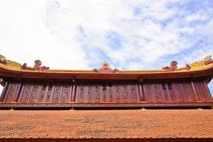Temple roof decorate Stock Photos