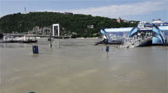 2013 Flood Budapest Hungary 10 Stock Footage