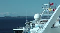 Cruise ship radar navigation into port HD 7867 Stock Footage