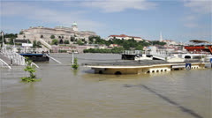2013 Flood Budapest Hungary 11 Stock Footage