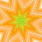 yellow-green splash star - stock illustration