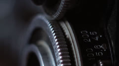 Old camera lens - stock footage