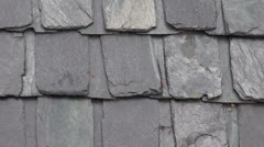 Slate stone roof in Himalayas, India Stock Footage