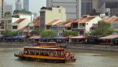 Singapore river - stock footage
