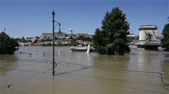 2013 Flood Budapest Hungary 26 Stock Footage