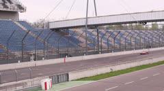 Race track. Audi R8 test Stock Footage