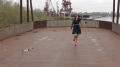 Woman running Stock Footage