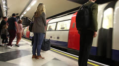 London's underground - stock footage