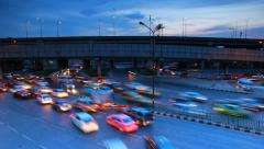 Traffic in rush hour. Stock Footage