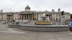 London's National gallery Stock Footage