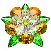 Flower composed of colored gemstones on white Stock Illustration