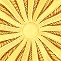 Golden sunburst background with rays and beams Stock Illustration