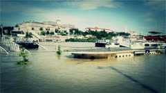 2013 Flood Budapest Hungary 35 stylized Stock Footage