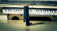 2013 Flood Budapest Hungary 39 stylized Stock Footage