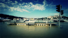 2013 Flood Budapest Hungary 40 stylized Stock Footage