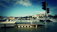 2013 Flood Budapest Hungary 41 stylized Stock Footage