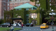 Victoria BC Canada Fairmont Empress Hotel HD 7888 Stock Footage