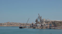 Maltese impressions - ship construction Stock Footage
