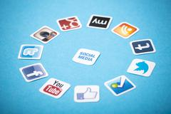 Social media apps Stock Photos