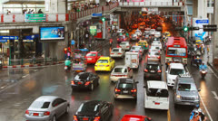 Timelapse View of Central Bangkok at Siam Square, Thailand Stock Footage