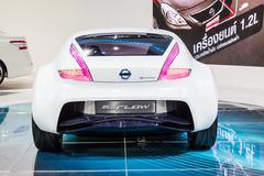 bangkok-dec 03: nissan esflow concept car on display at thailand internationa - stock photo