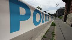 Police Closed Area 1 Stock Footage