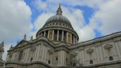 London - St. Paul Cathedral  - Timelapse 4K (4096 x 2304) Stock Footage