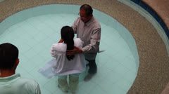 Water baptism Stock Footage