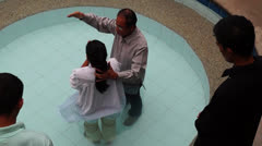 water baptism - stock footage
